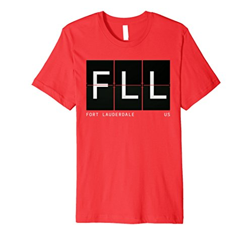 Mens FLL Fort Lauderdale Retro Travel Airport Code Gift T Shirt Medium - Fort Airport Lauderdale