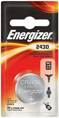 6 Pack Energizer ECR2430BP Lithium 3-Volt Coin Cell Battery