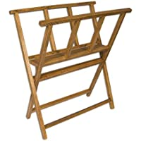 Creative Mark Folding Wood Large Print Rack - Perfect For Display of Canvas, Art, Prints, Panels, Posters, Art Gallery…