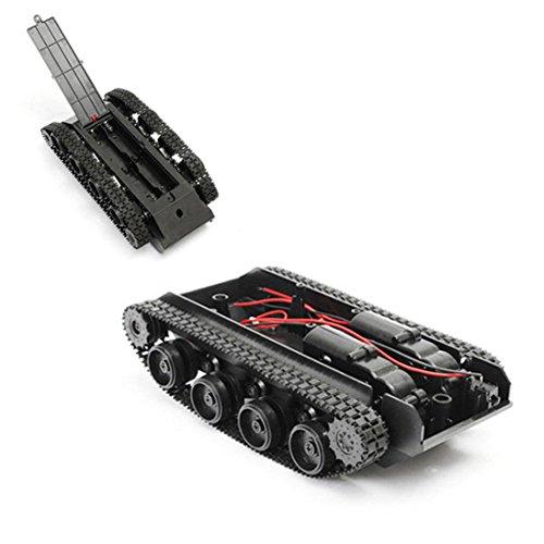 (Robot gift ,Livoty Smart Robot Tank Car Chassis Kit Rubber Track Crawler for Arduino 130 Motor (Black))