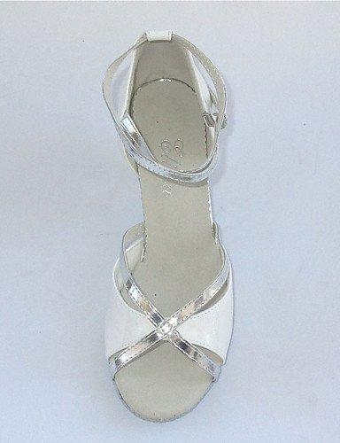 ShangYi Customized Latin Women's Sandals Customized Heel Dance Shoes More Colors Gold QWkHjPg