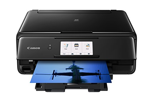 Canon TS8120 Wireless All-In-One Printer with Scanner and Copier: Mobile and Tablet Printing, with Airprint(TM) and Google Cloud Print compatible, Black ()