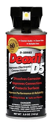 Hosa D5S-6 CAIG DeoxIT 5% Spray Contact Limpiador, 5 oz.