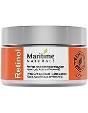 Canada's Premium Retinol Moisturizer for Face -Huge 120ml - Hyaluronic acid and vitamin A - anti aging skin cream – Professional Grade-Cruelty Free - Organic Moisturizer By Maritime Naturals