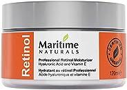 Canada's Premium Retinol Moisturizer for Face -Huge 120ml - Hyaluronic acid and vitamin A - anti aging ski