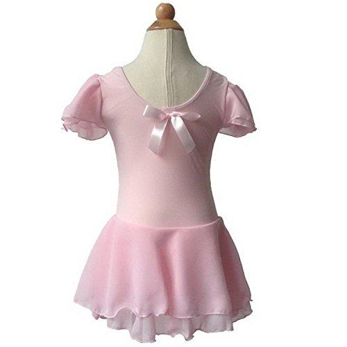 Garyline Children Girl Dance Tutu Dress Ballet Gymnastics Leotard and Skirt PinkMedium (Yakima Wa Stores)