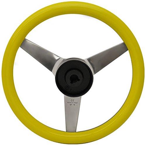 Uflex Boat Steering Wheel PONZA-Y/P   13 1/8 x 3 1/4 Inch Yellow