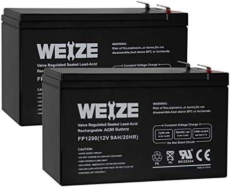 12V 9Ah Battery APC Back-UPS NS1250 PowerStar 2 Pack NS 125