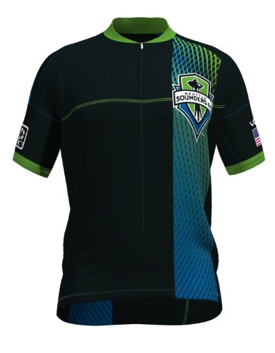 MLS Seattle Sounders Women's Primary Short Sleeve Vomax Jersey, Medium