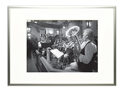 Golden State Art, Metal Wall Photo Frame Collection, Aluminum Silver Photo Frame with Real Glass (11x14) (Metal Picture Frames compare prices)