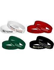 4 Fitnesspolsbandjes Beyond Dreams | Motivatie Power Siliconen Armbanden | Rekbare Gekleurde Banden Set
