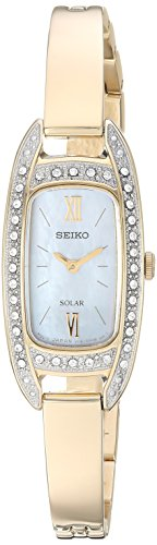 Seiko Women's 'JEWELRY' Quartz Stainless Steel Dress Watch, Color Gold-Toned (Model: SUP390) (Watch Steel Gold Stainless Toned Womens Seiko)