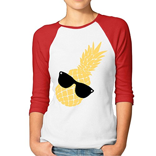 JTCY Pineapple Sunglass Women's 3/4 Sleeve Jersey Shirt Baseball Tee Raglan T-Shirts S - Sunglasses Pentatonix