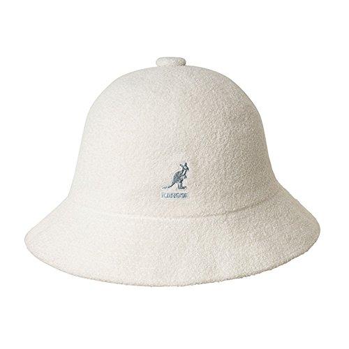 (Kangol Mens Retro Bermuda Casual Bucket Hat White L (59cm))