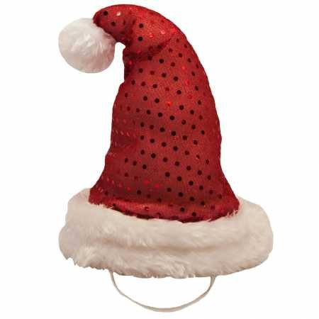 Kyjen Outward Hound 2816 LED Headband Santa Hat for Dogs Holiday Adjustable Pet Accessories, Medium, Red by Kyjen