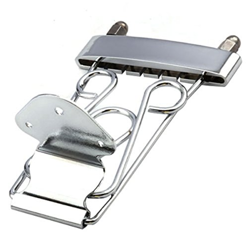 Tinksky Trapeze Tailpiece with Wired Frame for 6-string Guitar 335 Guitar (Silver)