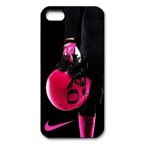 sign 1 NCAA Oregon Ducks Pink Football Helmet Print Black Case With Hard Shell Cover for Apple iPhone 5s ()