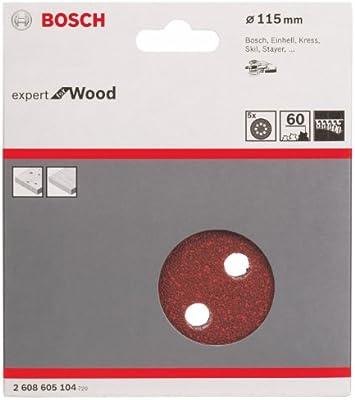 115 mm, 240 Bosch 2 608 605 063 Pack de 5 hojas de lija