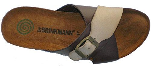 Dr.brinkmann Mujeres Leather Loafer Flats Marrón / Beige