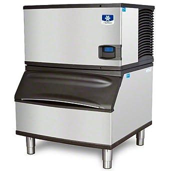 Manitowoc ID-0302A_B-170 310 Lb Air-Cooled Full Cube Ice Machine w/ Storage Bin