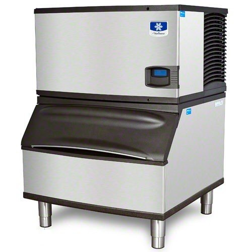 Air Cooled Medium Cube - Manitowoc IY-0304A_B-400 310 Lb Air-Cooled Half Cube Ice Machine w/ Storage Bin