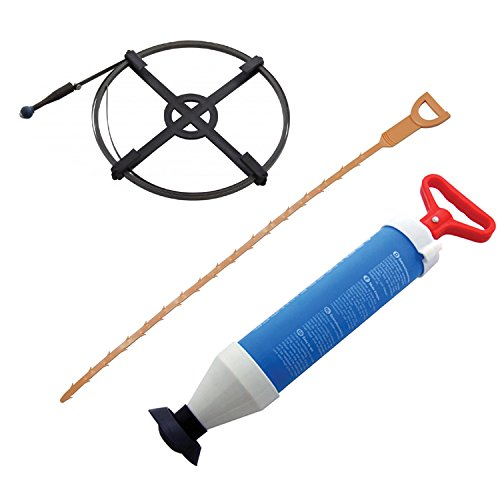 3 PC Drain Unblocker Tool Set - Power Plunger - Pipe Cleaning Tool - 4.5M Drain Cleaner Tooltime - Amtech