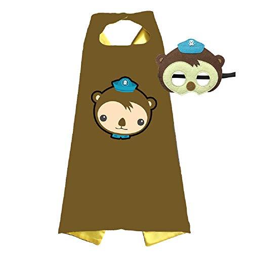 Octonauts Fancy Dress (Octonauts Cape and Mask Costumes Kids Birthday Party Shellington Kwazii Barnacles Dashi Peso Cosplay)