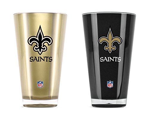 (NFL New Orleans Saints 20oz Insulated Acrylic Tumbler Set of 2 )