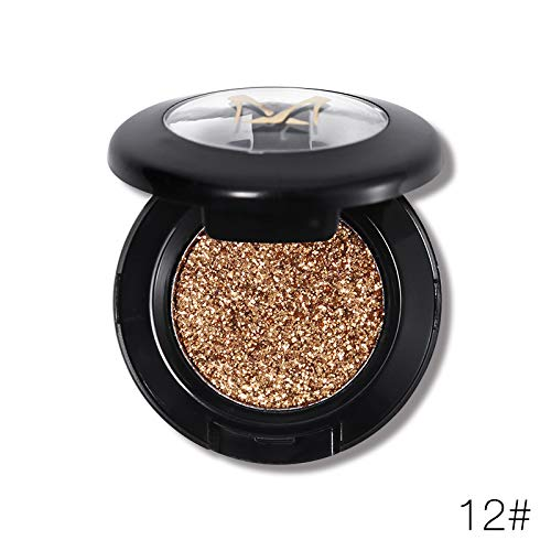 - Diamond Glitter Eyeshadow 24 Colors Single Palette Illuminator Makeup Shimmer Metal Eye Shadow Shine Pigment Cosmetics 12