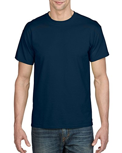 (Gildan Men's DryBlend Adult T-Shirt, 2-Pack, Navy, 2X-Large)
