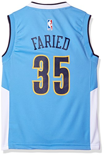 NBA Youth 8-20 Denver Nuggets FARIED K Replica Road Jersey-Light Blue-S(8)