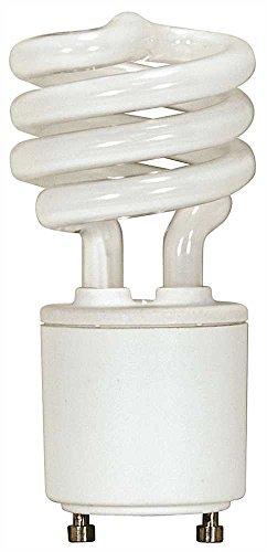 Satco Spiral Compact Fluorescent Lamp , 13 Watt, 2700K, 82 Cri, Gu24, 120 Volt, 12 Per - Satco Compact