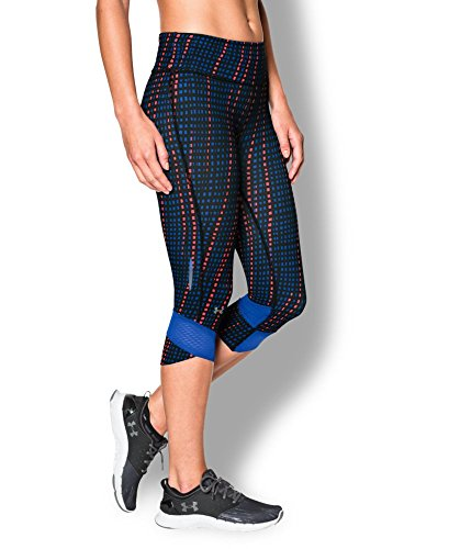 Under Armour Women's UA Printed Fly-By Compression Capri Large TEAM ROYAL