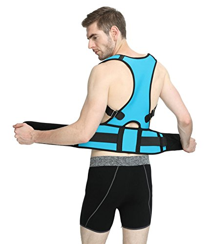DS-Space Posture Corrector for Men - Adjustable Clavicle Support Brace to improve Bad Posture, Thoracic Kyphosis, Shoulder Alignment, Upper Back Pain Relief