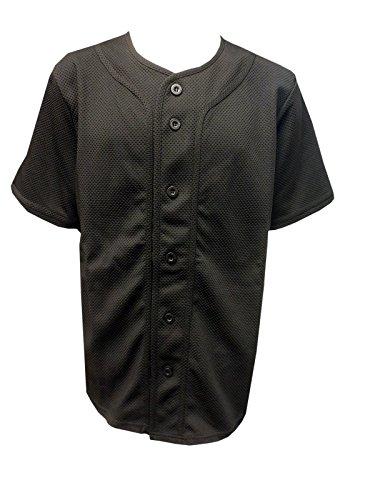- Brooklyn Xpress Mens Dazzle Mesh Baseball Tops BX1907T (X-Large, Black / Black)
