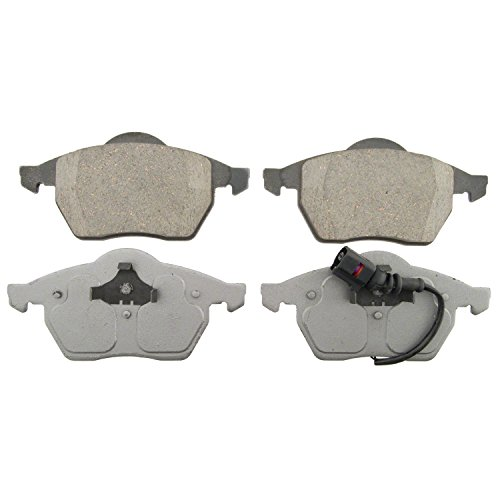 Wagner ThermoQuiet QC687A Ceramic Disc Pad Set, Front (2004 Jetta Front Brake Pads)