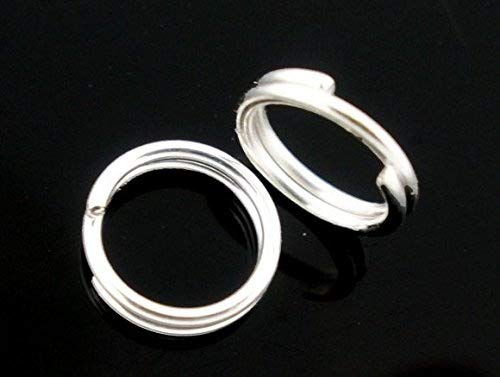 250 x Silver Plated 4mm Double Loop Open Jump Rings Findings Connectors for Jewellery Crafts Making