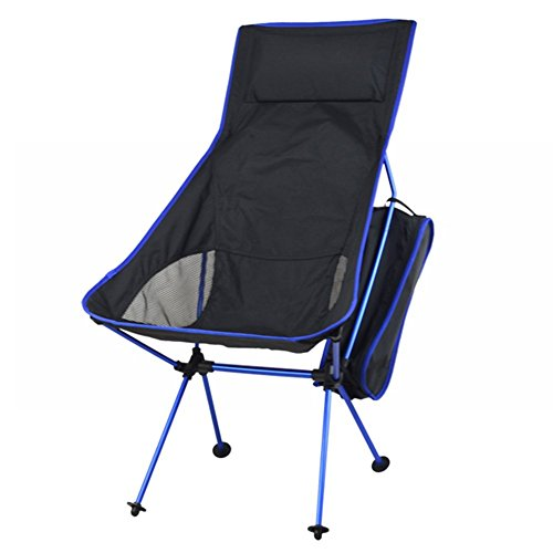 Camping Chairs ONEPACK Ultralight Portable Folding Chairs Lightweight Moon Foldable Beach Chair for Camping Hiking Sporting Touring Fishing Travelling Backpacking Outdoor (Extended Deep Blue) (Outdoor Moon Chairs Adults)