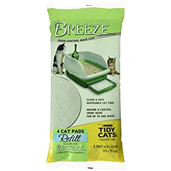Amazon Com Tidy Cats Breeze Cat Pads 4 Pack Pet Supplies