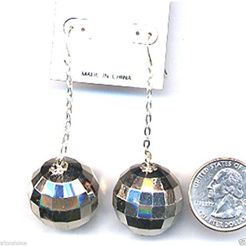 Disco Ball Costume Pierced Earrings 70s Earrings Disco Costume Earrings 9764 (Homemade 50s Costumes Women)