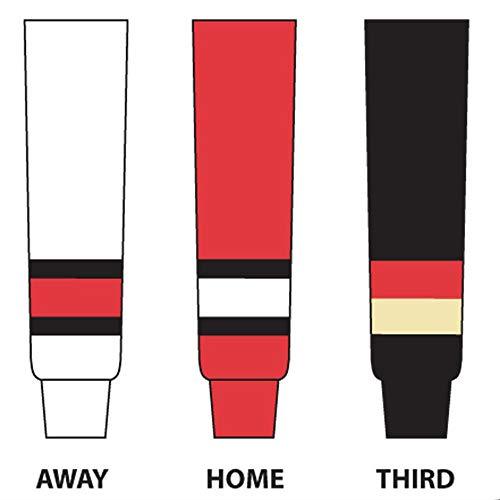 DoGree Hockey Ottawa Senators Knit Hockey Socks, 24-Inch, Black/White/Red ()