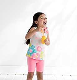 Gerber Graduates Baby Toddler Girls\' 2 Pack Bike Short, Pink/Teal, 3T