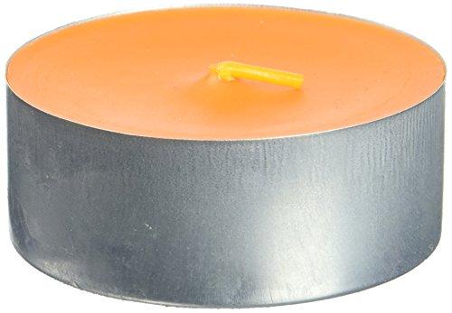 (Zest Candle 12-Piece Tin Cups Tealight Candles, Mega Oversized Orange s)