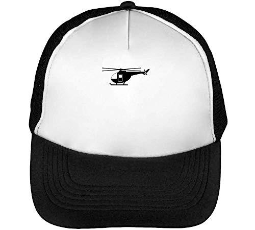 Helicopter Gorras Hombre Snapback Beisbol Negro Blanco