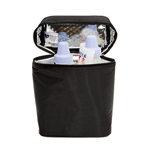 Delta Children Insulated Baby Bottle Bag | Keeps Breast Milk Cool, Stores Baby Bottles both Warm or Cold, Black by Delta Children (Image #6)