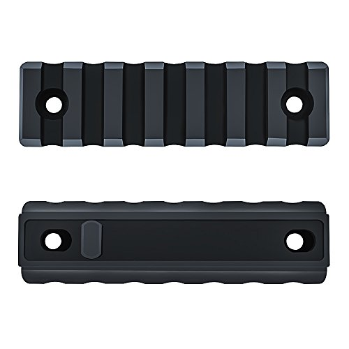 Keymod Picatinny Rail Section,Omamba 2 Pack 7-Slot Lightweight Polymer Weaver Rail For AR-15 Key Mod Handguard Mount Rail System (Ar 15 Handguard Weaver Rail)