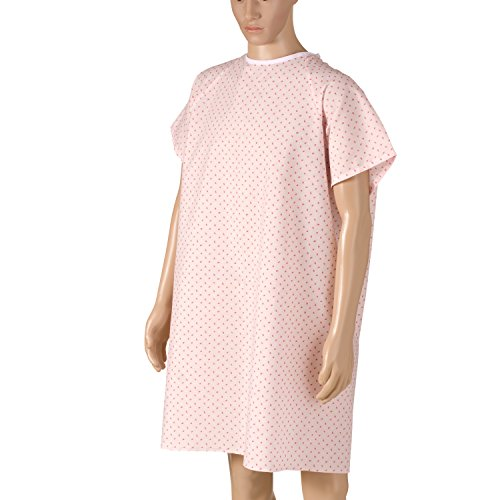DMI Convalescent Hospital Gown with Back Tie, Pink Print by Briggs (Image #1)