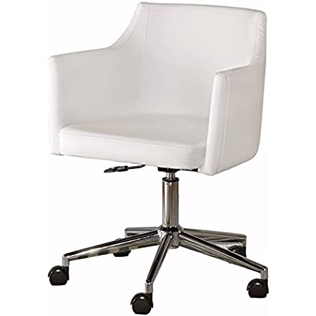 Ashley Furniture Signature Design Baraga Home Office Swivel Desk Chair Contemporary Style White