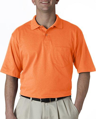 Hockey Symbol auf American Apparel Fine Jersey Shirt Orange (Anaranjado Safety)