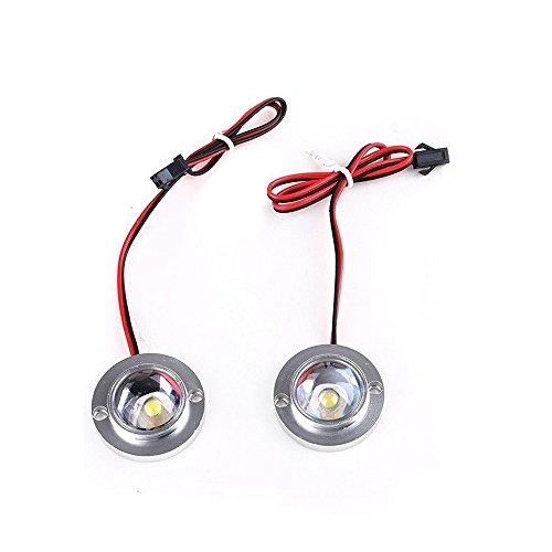A Set of Car Auto 2 LED Strobe Bulb Light Emergency Warning Flash 12V with Controller - Strobe Bulbs